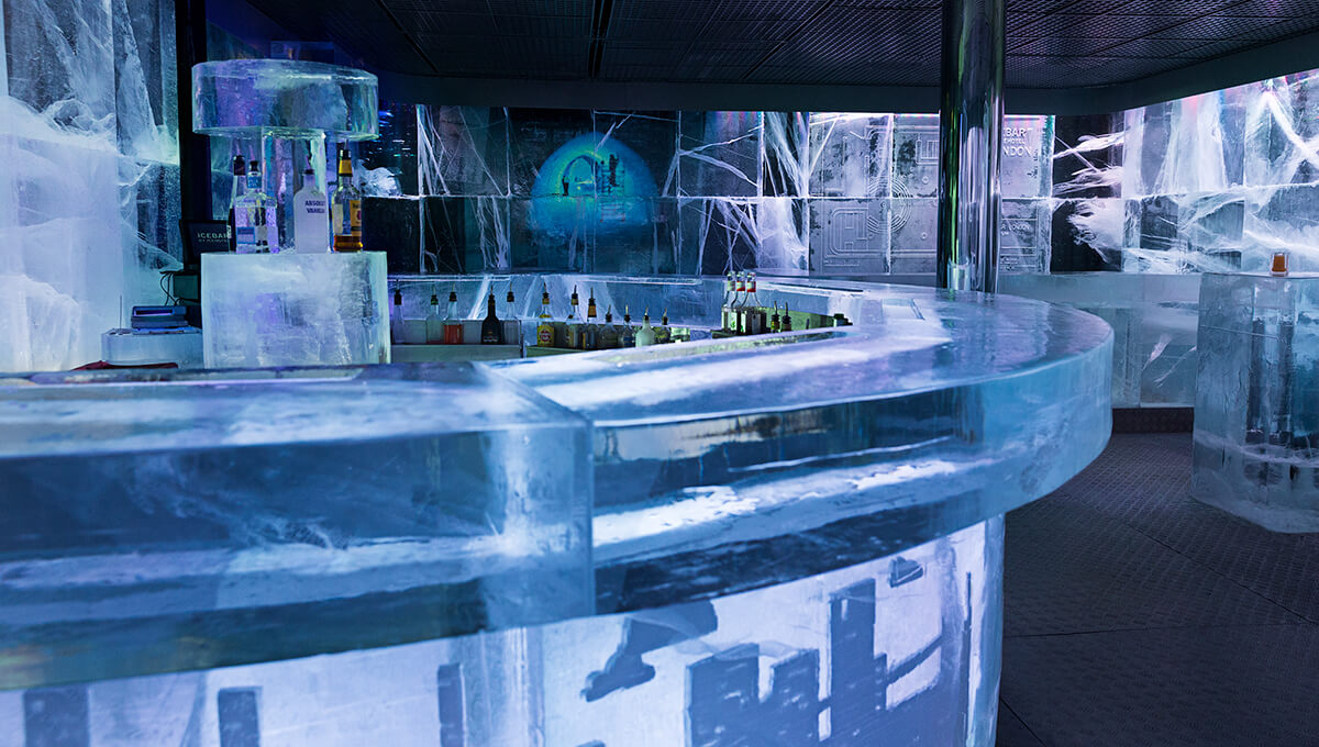 Ice bar in the Frozen Architecture theme