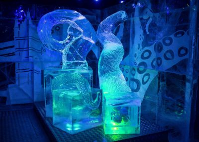 Icebar 2016 Design, Wild In The City - Octopus. Photograph by Peter Kindersley